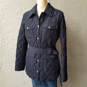 J. Crew Quilted Down Puffer Jacket Coat in black